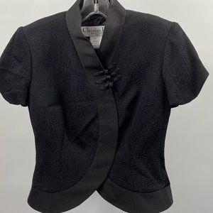 Christian Dior black silk bolero evening jacket 6